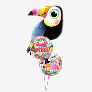 Tropical Toucan Birthday Balloon Bouquet