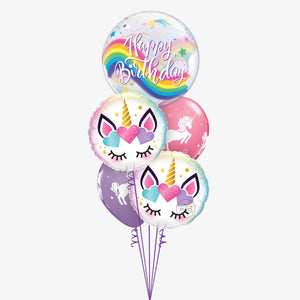 Bubble Unicorn Balloon Bouquet