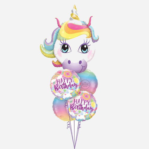 Unicorn Birthday Balloon Bouquet