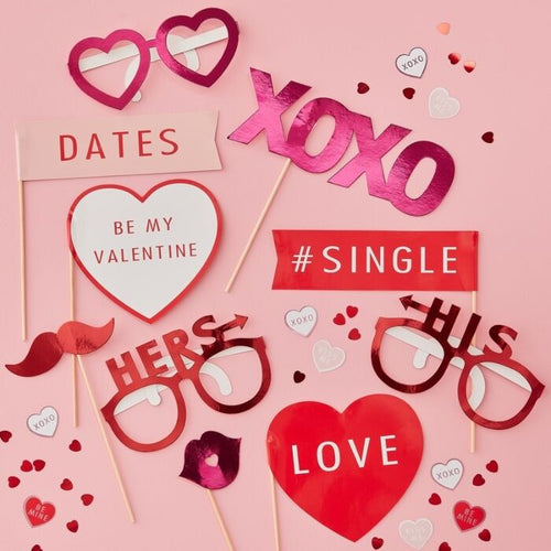 Valentines Photo Booth Props - Be My Valentine