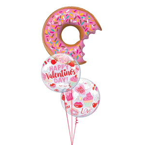 Donut Valentine Balloon Bouquet
