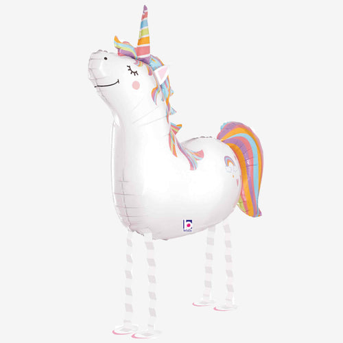 Friendly Unicorn Walking Balloon
