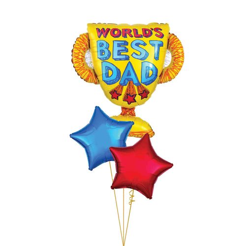 World's Best Dad Balloon Bouquet