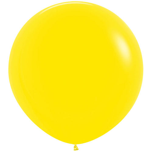 Yellow Giant 3ft Latex Balloon