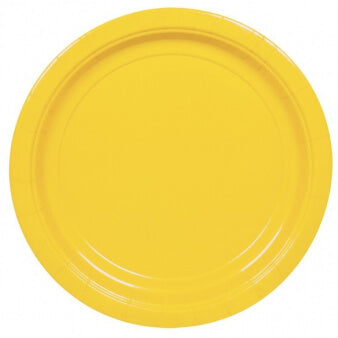 Yellow Paper Plates (8 pack)