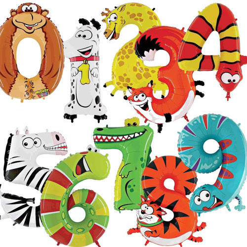 Zooloon Animal Number Balloons 40