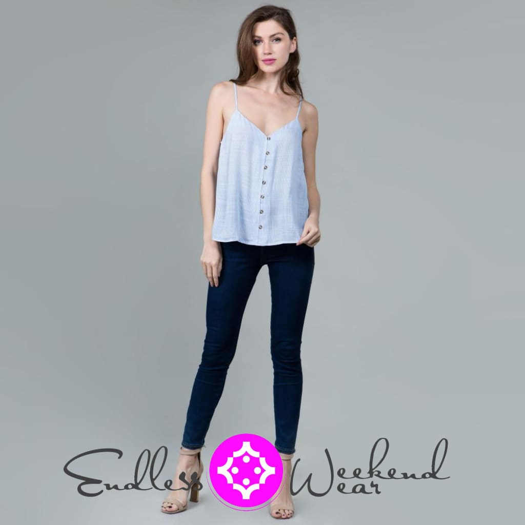 Adorable Chambray Top - Tops