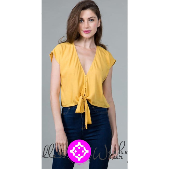 Beautiful Yellow Spring Top - Tops