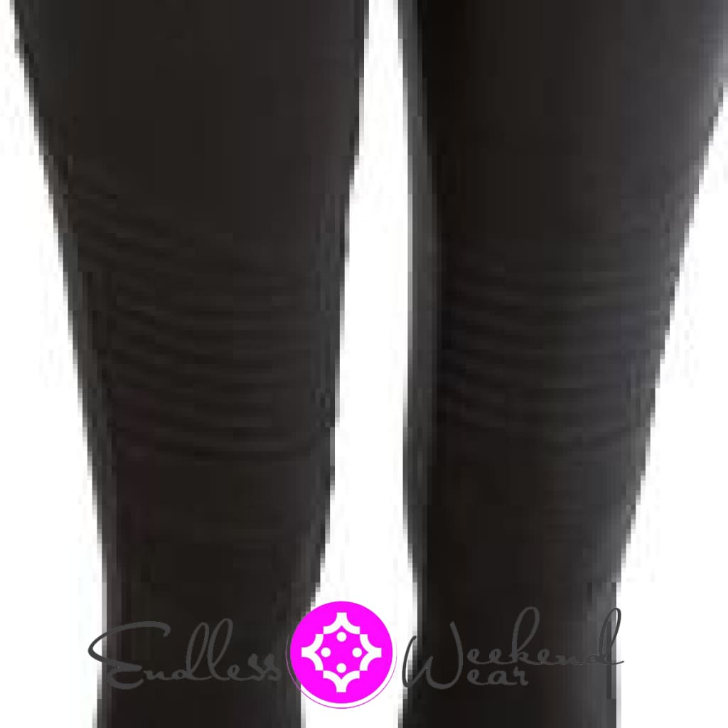 Black Moto Jeggings - Bottoms