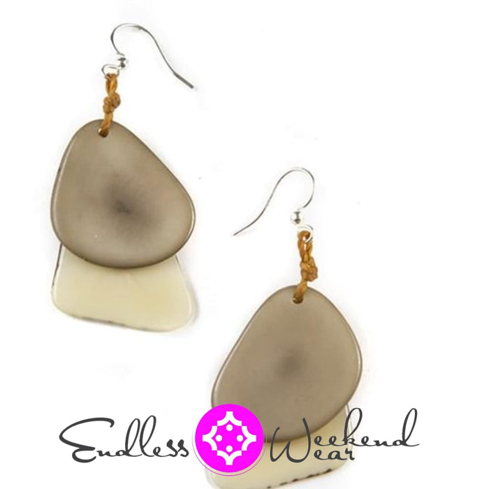 Ivy With Light Beige Fiesta Earrings - Earrings