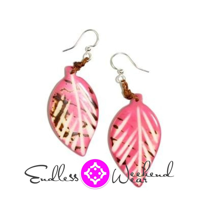 Napo Pink With Brown Earrings - Earrings