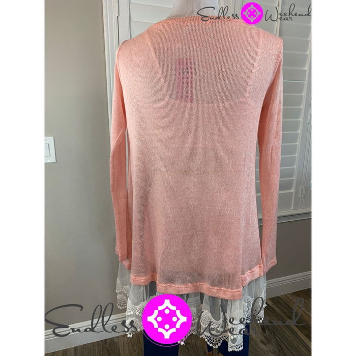 Pink Sweater Lace- Small