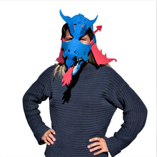 Load image into Gallery viewer, Dragon Masks-Red, Green, Black & Blue