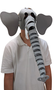 Elephant Masks- Grey & Blue