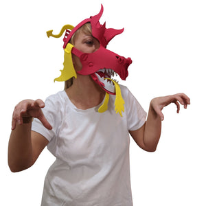 Dragon Masks-Red, Green, Black & Blue