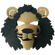 Load image into Gallery viewer, Lion Masks- Brown, Yellow & White