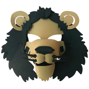 Lion Masks- Brown, Yellow & White