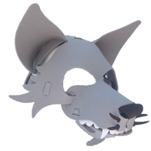 Load image into Gallery viewer, Wolf Masks- Gray, Black & White