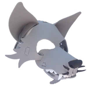Wolf Masks- Gray, Black & White