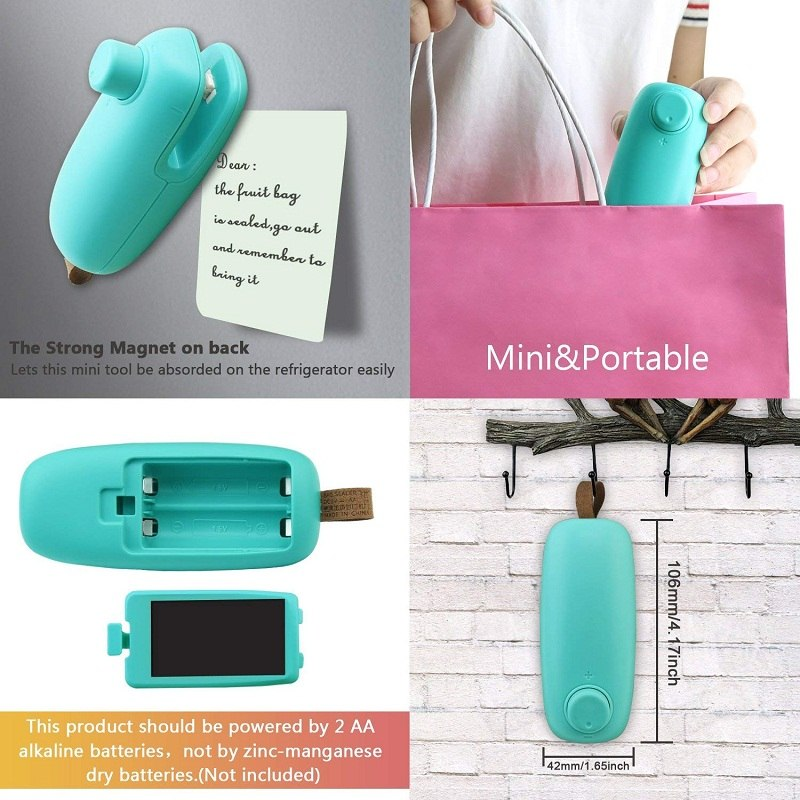 Mini Portable Bag Heat Sealer & Cutter