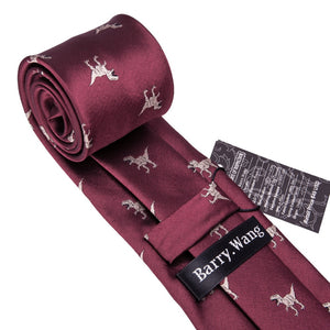 Dinosaur Tie Set with Cufflinks & Pocket Square