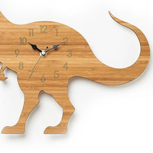 Load image into Gallery viewer, 3D Wooden Tyrannosaurus Clock