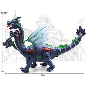 Walking Four-Headed Dinosaur-Dragon Toy with LED Projector