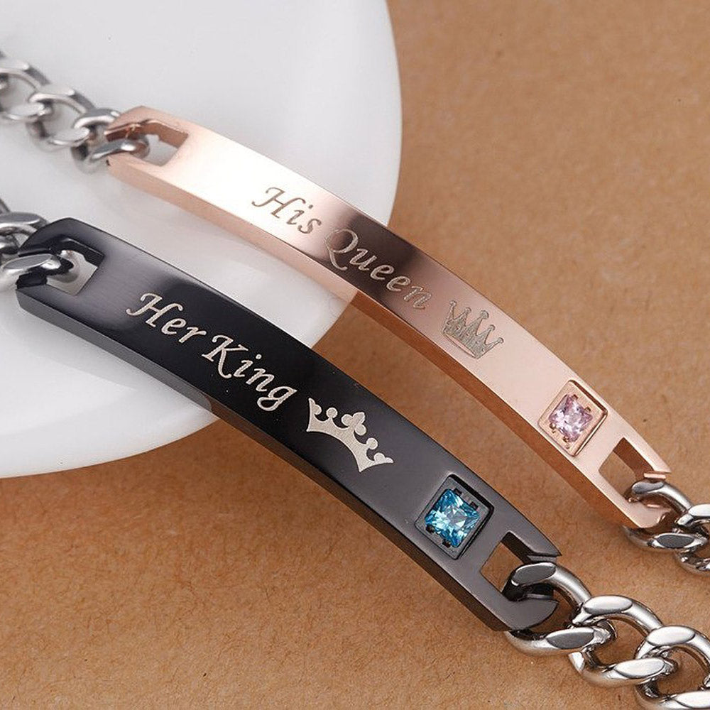 f74a88fd487 Her King, His Queen' Couple Bracelet – Instantly Trendy