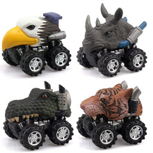 Load image into Gallery viewer, Mini Pull Back Animal Cars (Pack of 4)