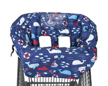 Load image into Gallery viewer, 2-in-1 Foldable Baby Shopping Cart & High Chair Cover