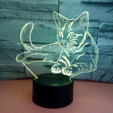 Load image into Gallery viewer, Color Changing Cat 3D LED Lamp