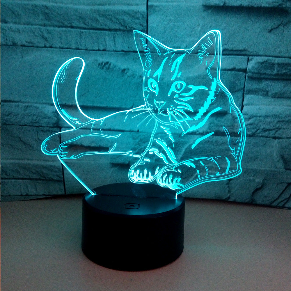 Color Changing Cat 3D LED Lamp