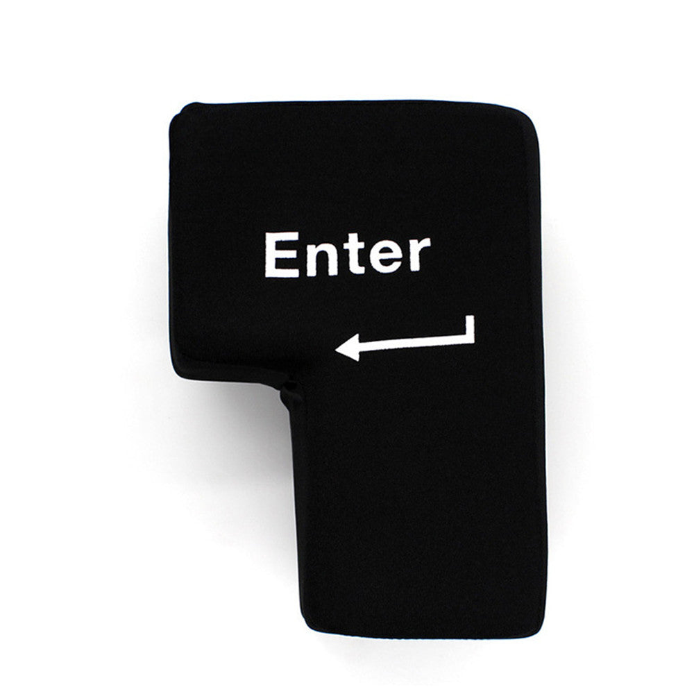 Big Enter Key Throw Pillow with USB