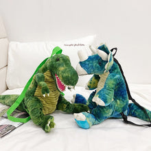 Load image into Gallery viewer, Dinosaur Plush Backpack