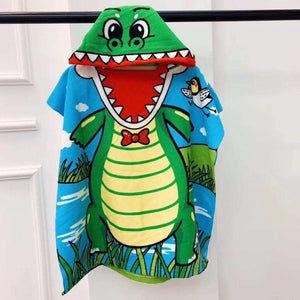Dinosaur Hooded Beach Towel
