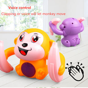 Voice-Activated Rolling Monkey Toy