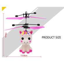Load image into Gallery viewer, Flying Baby Unicorn LED Induction Toy