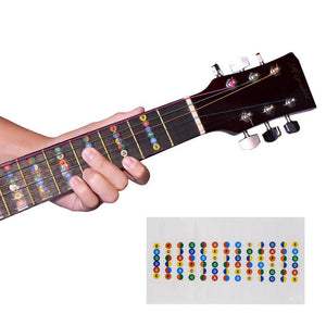 Guitar Fretboard Note Stickers