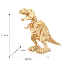 Load image into Gallery viewer, DIY 3D Walking T-Rex Wooden Puzzle Model
