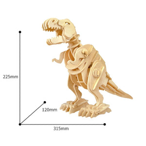 DIY 3D Walking T-Rex Wooden Puzzle Model