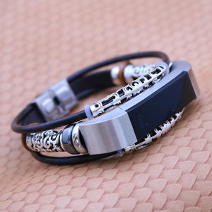 Leather Bracelet Strap Band for Fitbit Alta/Alta HR