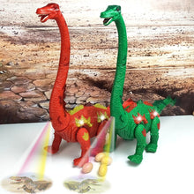 Load image into Gallery viewer, Walking Brachiosaurus Toy with LED Projector