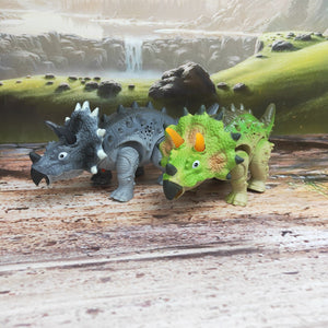 Walking Triceratops LED Toy
