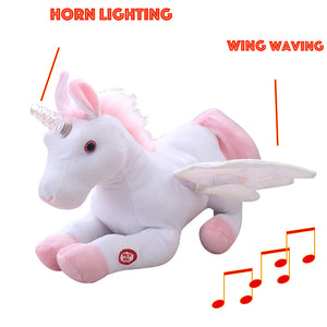 Waving Wings Unicorn with LED Horn