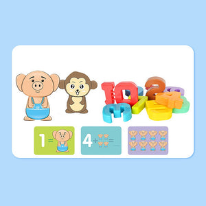 Number Balance Scale Toy