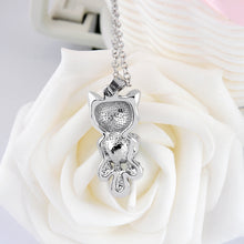 Load image into Gallery viewer, Crystal Rhinestone Cat Necklace