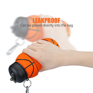 Collapsible Basketball Water Bottle