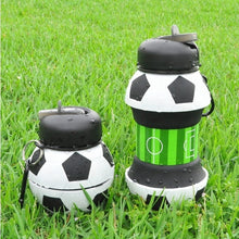Load image into Gallery viewer, Collapsible Football Water Bottle