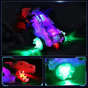 Mechanical LED Spray Dinosaur Toy