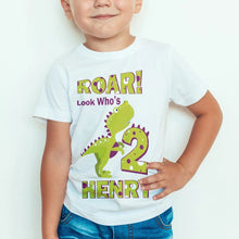 Load image into Gallery viewer, ROAR! Personalized Dinosaur T-Shirt